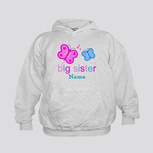 big sister butterfly custom Kids Hoodie