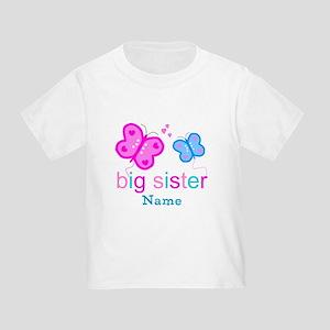 big sister butterfly custom Toddler T-Shirt