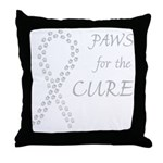 Gray Paws Cure Throw Pillow
