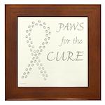 Gray Paws Cure Framed Tile
