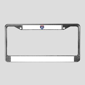 Interstate 80 - Iowa License Plate Frame
