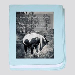 If I Had a Horse baby blanket