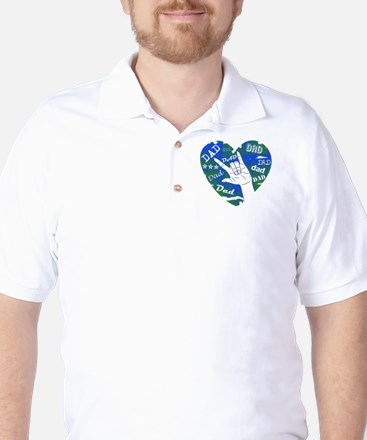 LOVE YOU DAD Golf Shirt