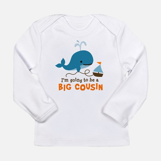 Big Cousin to be - Mod Whale Long Sleeve Infant T-
