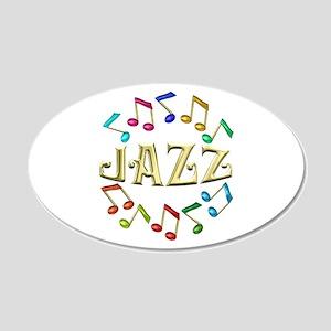 Golden Jazz 22x14 Oval Wall Peel