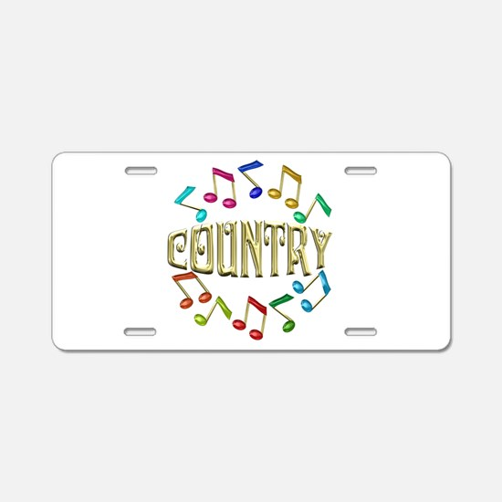 Golden Country Aluminum License Plate
