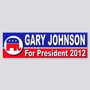 Gary Johnson for President Sticker (Bumper)