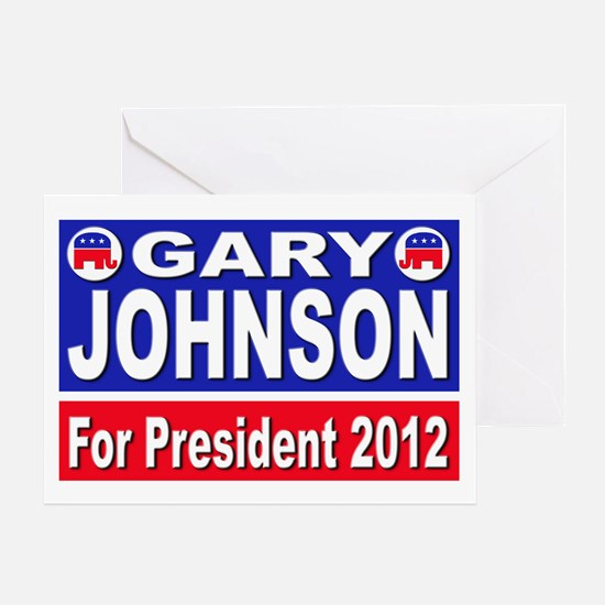 Gary Johnson for President Greeting Card