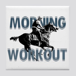 The Morning Workout Tile Coaster