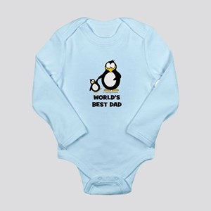World's Best Dad Penguin Long Sleeve Infant Bodysu
