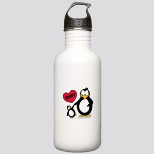 Heart Daddy Penguin Stainless Water Bottle 1.0L