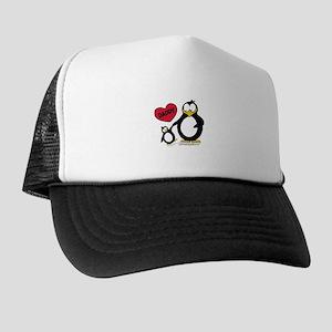 Heart Daddy Penguin Trucker Hat