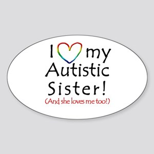 Autism Awareness - Oval Sticker