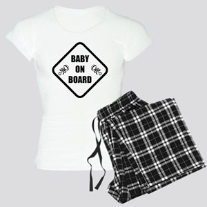 Baby On Board Rattle Women's Light Pajamas
