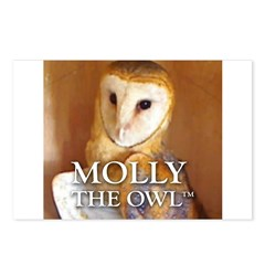 MOLLY THE OWL Postcards (Package of 8)