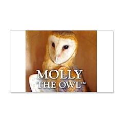 MOLLY THE OWL 22x14 Wall Peel