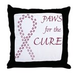 Burgundy Cure Throw Pillow