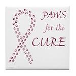 Burgundy Cure Tile Coaster