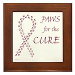 Burgundy Cure Framed Tile
