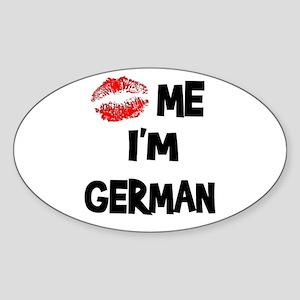 Kiss Me I'm German Oval Sticker