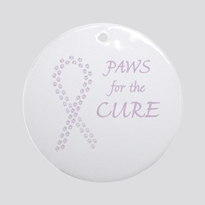 Orchid Paws Cure Ornament (Round)