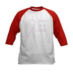 Orchid Paws Cure Kids Baseball Jersey