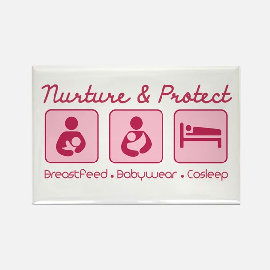 Cute Babywearing Rectangle Magnet (10 pack)