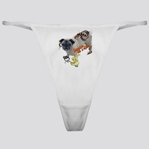 Snakes on a Pug Classic Thong