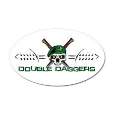 Double Daggers 22x14 Oval Wall Peel