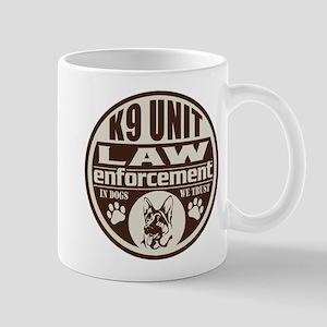 K9 In Dogs We Trust Dark Brown Mug