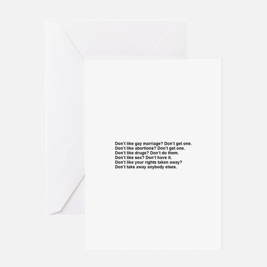 Unique Abortion rights Greeting Card