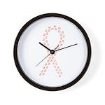 Peach Paws Cure Wall Clock