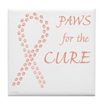 Peach Paws Cure Tile Coaster