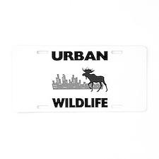 Urban Wildlife - Moose Aluminum License Plate