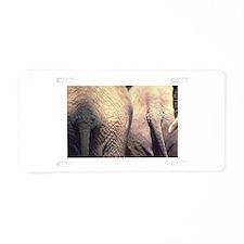 Nothing Butt Elephants Aluminum License Plate