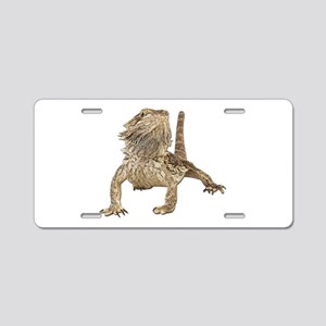 Bearded Dragon Photo Aluminum License Plate