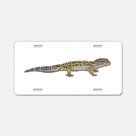 Leopard Gecko Aluminum License Plate