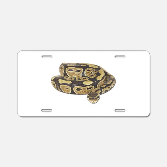 Ball Python Photo Aluminum License Plate