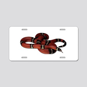 Milk Snake Aluminum License Plate