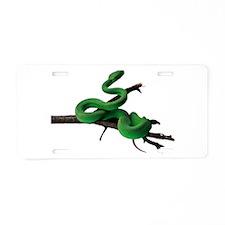 Green Tree Python Aluminum License Plate