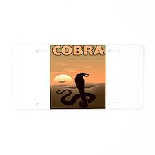 Graphic Cobra Aluminum License Plate