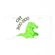 Crocodile Tears Aluminum License Plate