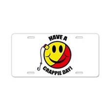 Crappie Day Aluminum License Plate