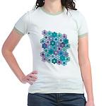 Flower Garden 3 Jr. Ringer T-Shirt