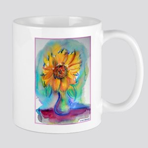 Sunflower, bright, fun, Mug