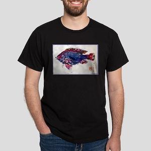 Fish Print, bright, Dark T-Shirt