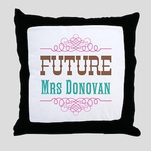 Pink Future Mrs Throw Pillow