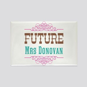 Pink Future Mrs Rectangle Magnet