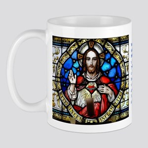 Sacred Heart and Arrupe Quotation Mug
