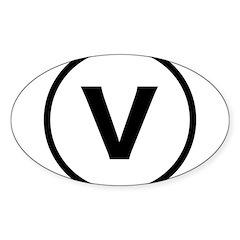 Circle V Sticker (Oval 10 pk)